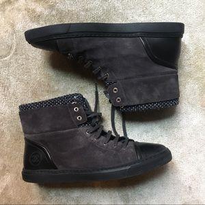CHANEL - Men's tweed high top sneaker boot, 10
